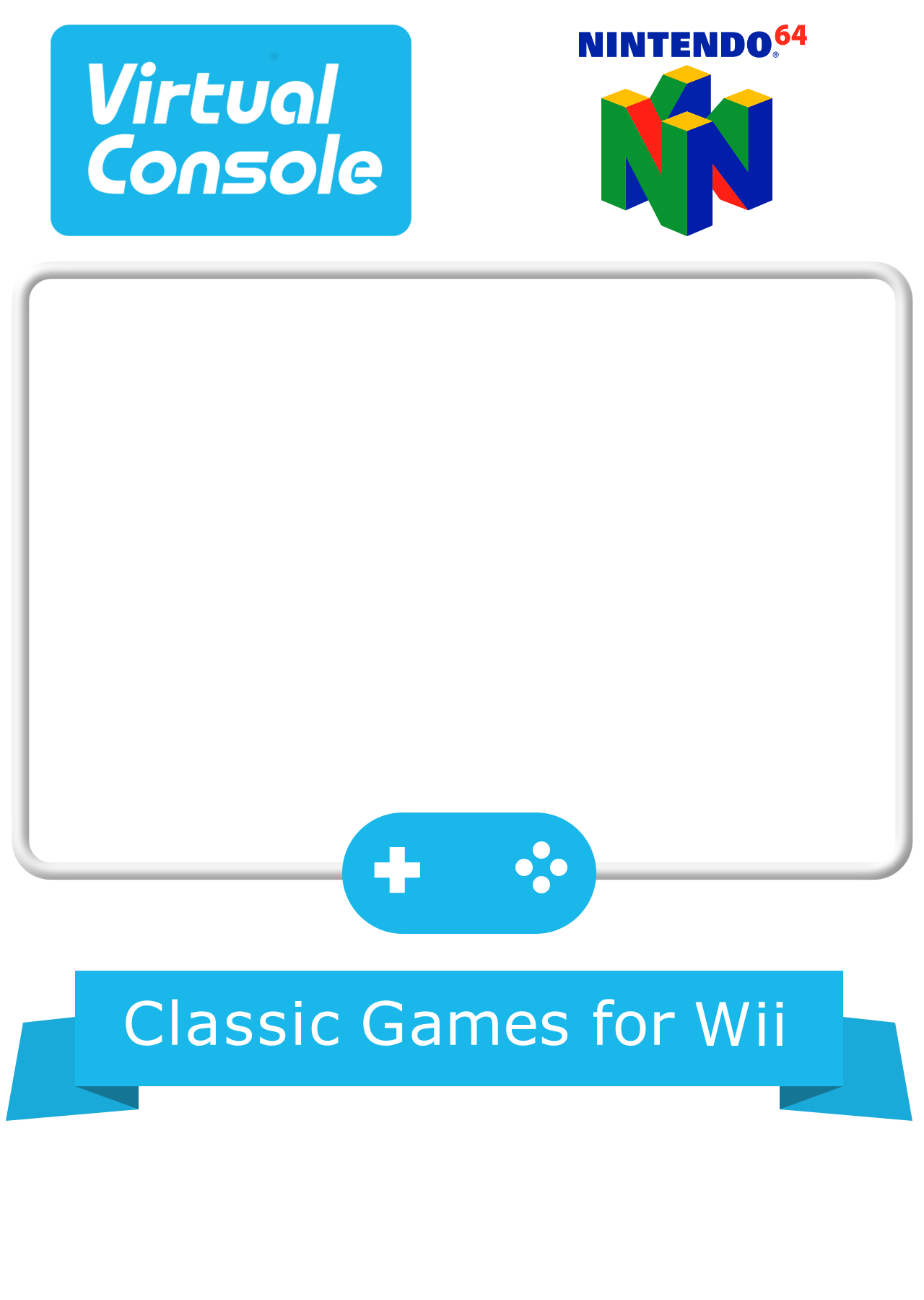 wii virtual console cover art templates game box art launchbox