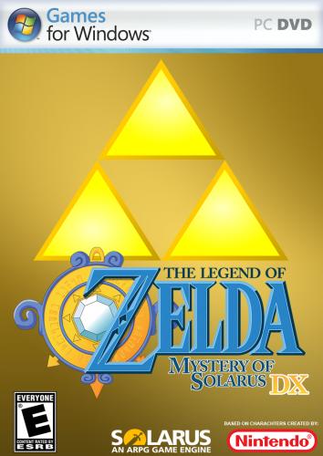 Legend of Zelda, The - Mystery of Solarus (v1.11.0) Front NTSC (Alt 2).png