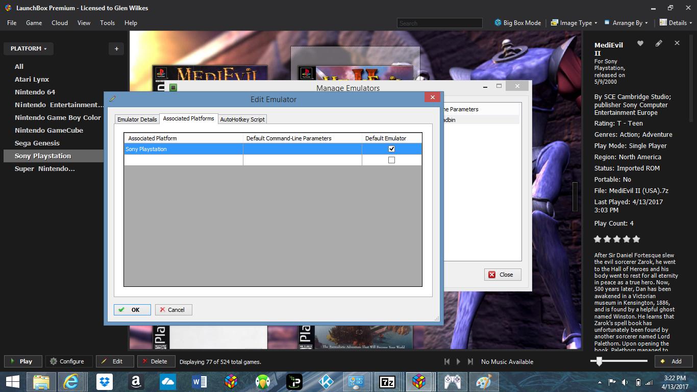 Ps1 emulation black screen - Troubleshooting - LaunchBox Community