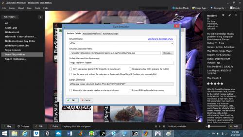 Ps1 emulation black screen - Troubleshooting - LaunchBox