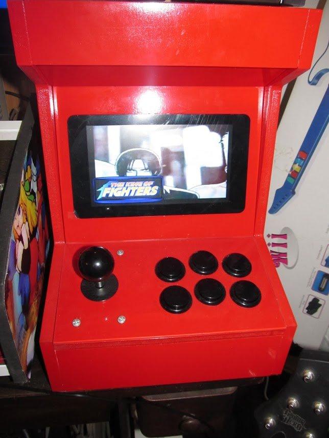 "7"" raspberry pi arcade"