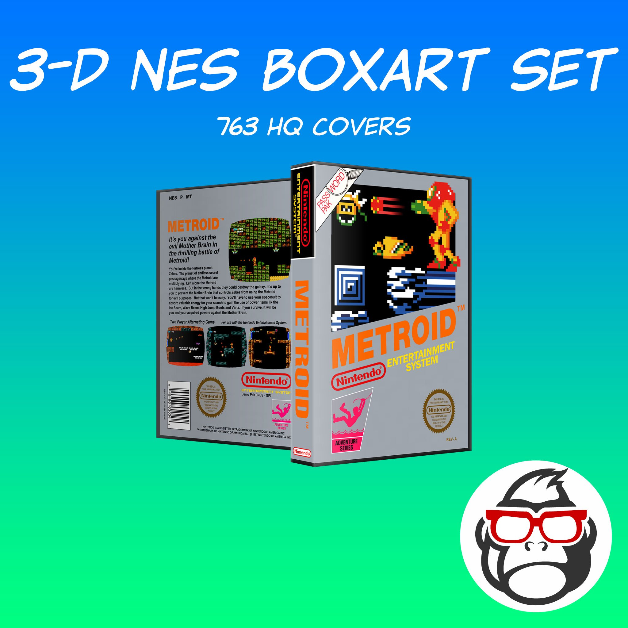 Grila's HQ 3-D NES Boxart - Game Box Art - LaunchBox