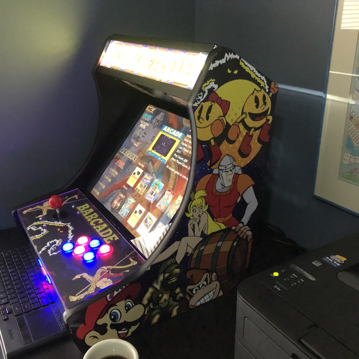 My Barcade bar top build