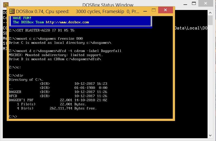 NEW DRIVER: DOSBOX MSCDEX
