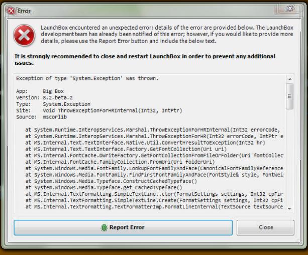 Help Debugging Error Message - Troubleshooting - LaunchBox Community