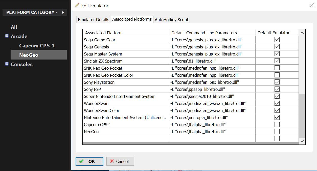 Retroarch (Neogeo & capcon) will not load - Emulation