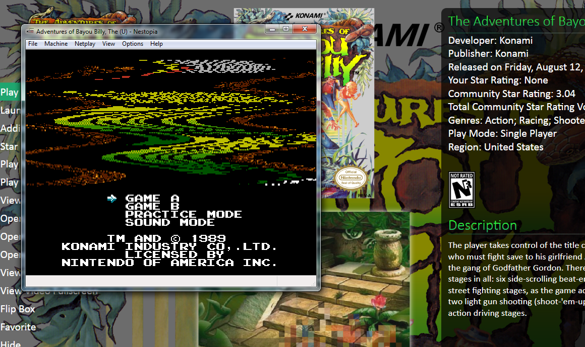 Nestopia full screen and Pinball FX3 Exit - Troubleshooting