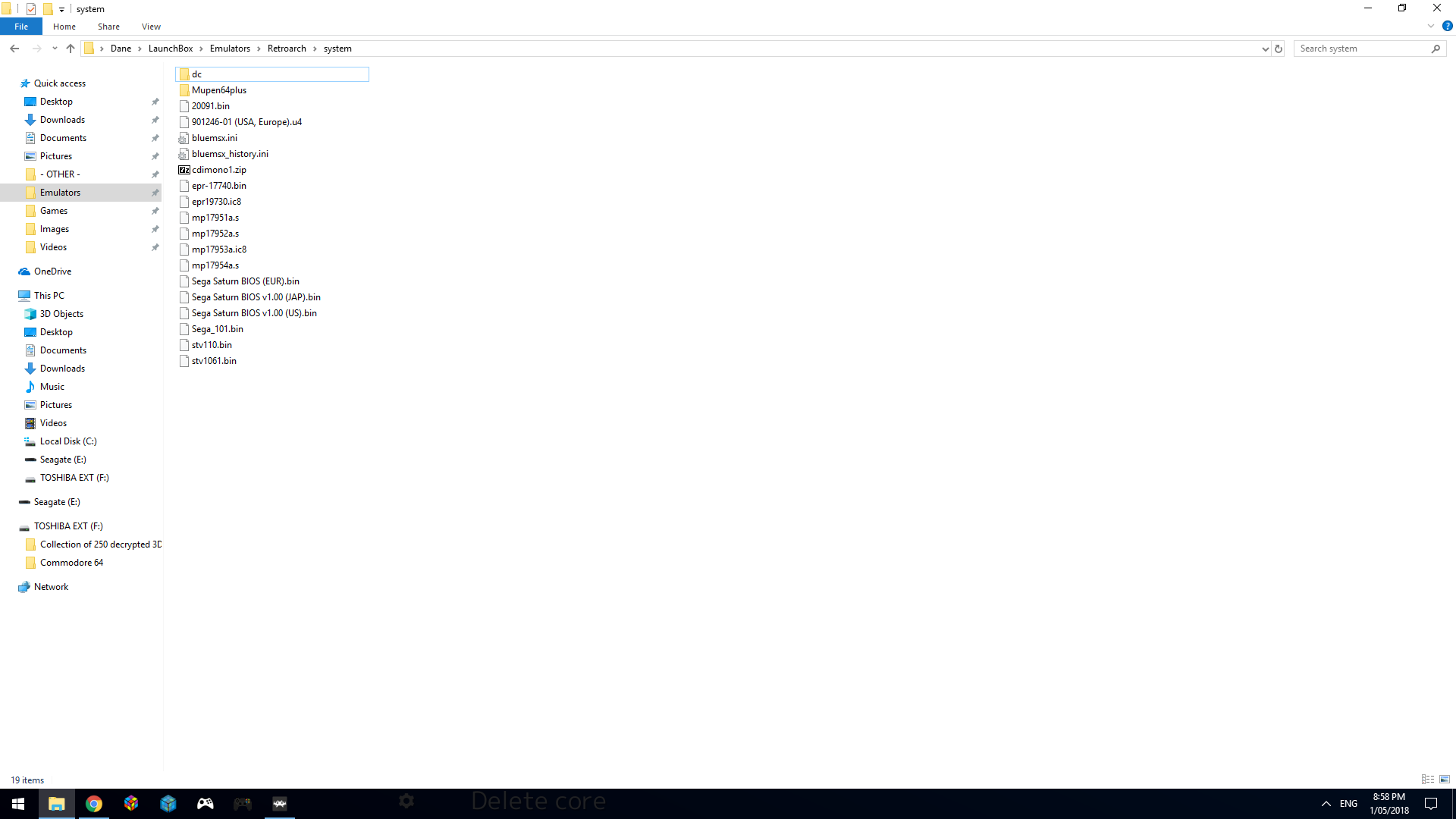 SEGA Saturn stuck on system settings menu in Mednafen