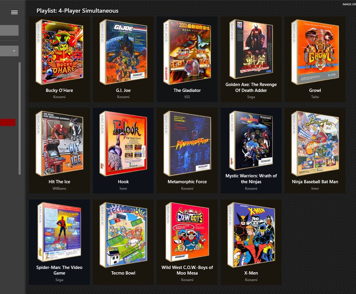 Arcade - 4-Player Simultaneous - Playlists & Playlist Media