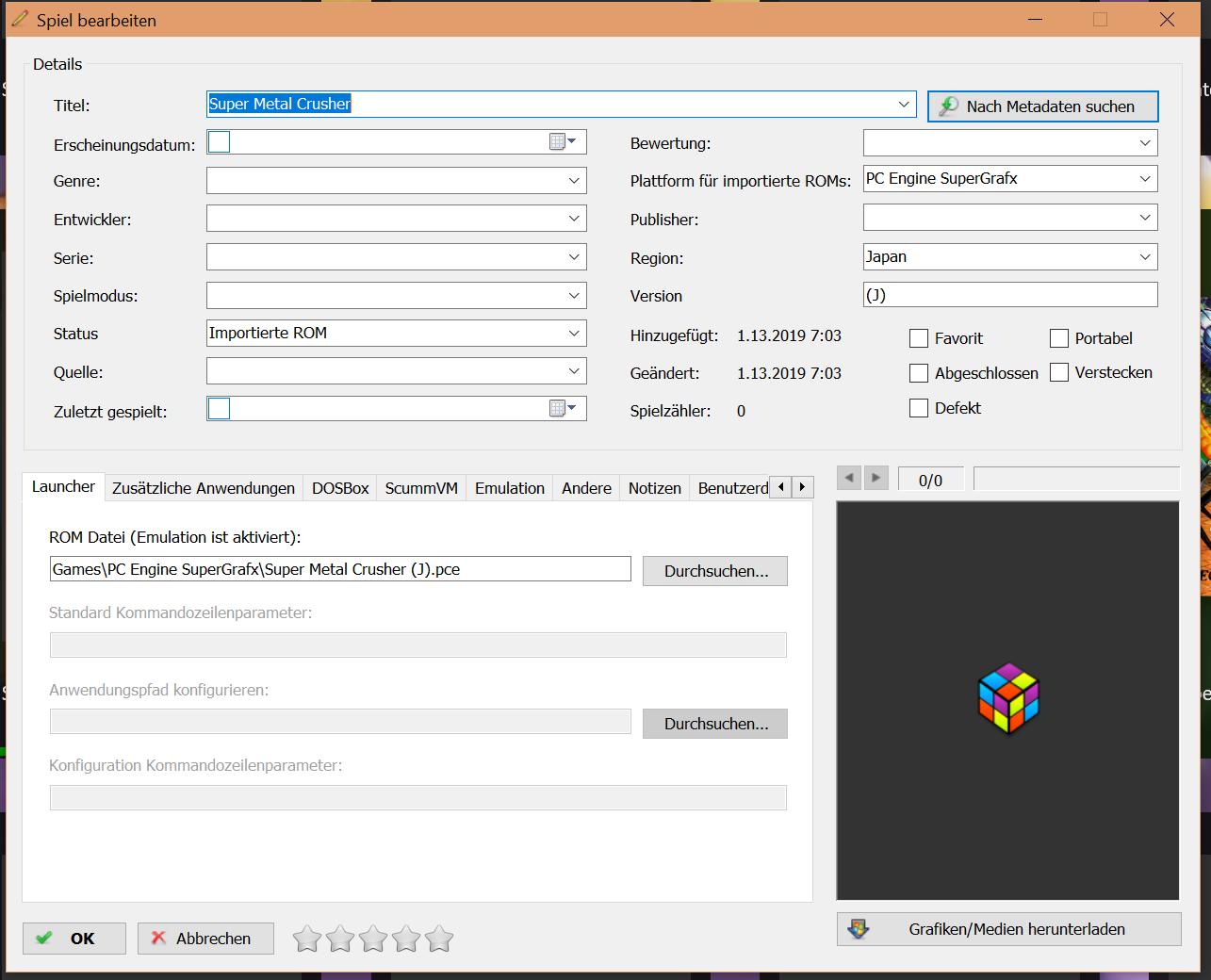 PC-Engine Supergrafx 16 Mediadata - Noobs - LaunchBox