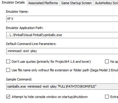 Visual Pinball Files