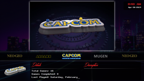 Capcom Home Arcade - Clear Logo