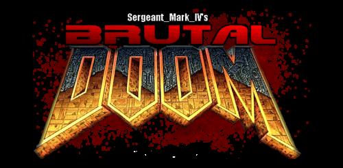 'BRUTAL Doom' Playlist Clear Logo
