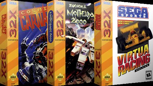 Sega 32X 3D Boxes & Carts - USA (66) (2 Versions)