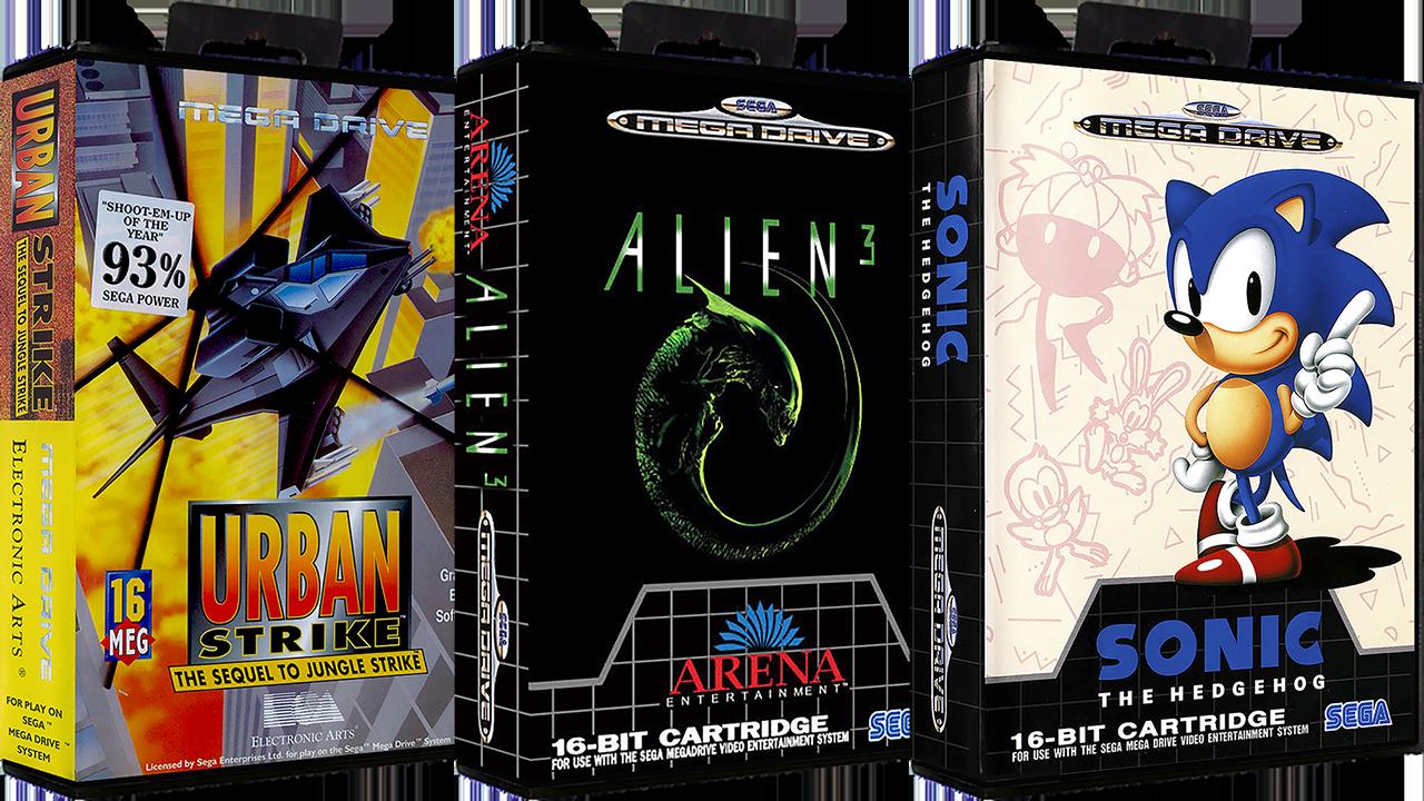 Sega Mega Drive Europe No Intro Art Pack 3d Boxes 2d Carts