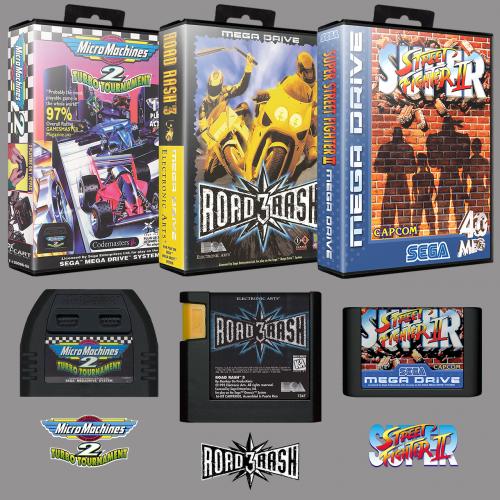 Sega Mega Drive Europe No-Intro Art Pack (3D Boxes, 2D Carts, Logos)